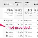 Googleアナリティクスでnot providedが表示される原因と対策!