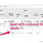 """beat with a shovel the weak google~""という検索キーワードはキーワードスパム!"