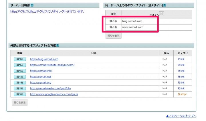 top1-seo-service.comのサーバー情報