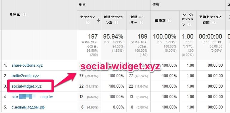 social-widget.xyzはリファラスパム!